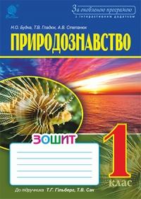 Природознавство. Робочий зошит 1 кл.  до підручника Гільберг Т.Г., Сак Т.В. За оновленою програмою